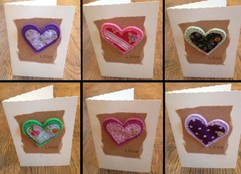 Detachable heart cards
